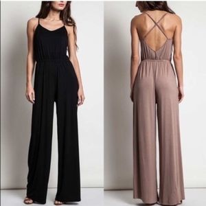 MIKESA Softest Jumpsuit  - BLACK
